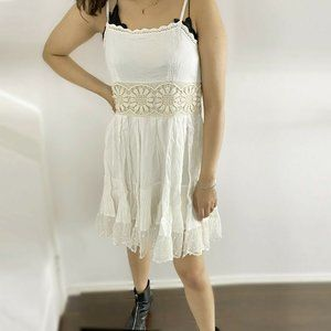 Free People Embroidered Fit Flare Dress S US